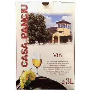 Vin alb demisec Casa Panciu Feteasca Regala, 10L, Bag in Box
