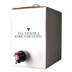 Vin alb sec Sarica Niculitel Premium Sauvignon Blanc, 10L, Bag in Box
