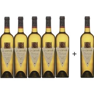 Vin alb sec Oprisor La Cetate Chardonnay, 0.75L, 5+1 sticle