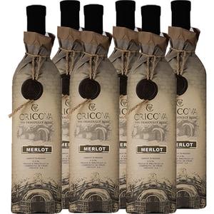 Vin rosu demidulce CRICOVA Hartie Merlot, 0.75L, 6 sticle