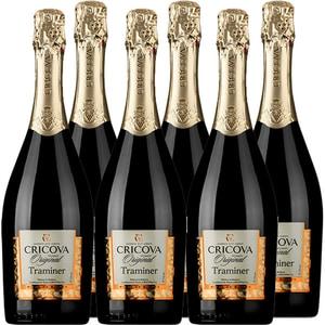 Vin spumant alb demisec CRICOVA Traditional Traminer, 0.75L, 6 sticle