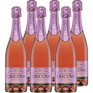 Vin spumant rose demisec CRICOVA Traditional, 0.75L, 6 sticle