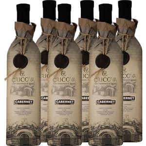 Vin rosu demidulce CRICOVA Hartie Cabernet Sauvignon, 0.75L, 6 sticle