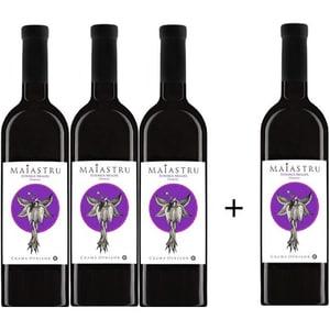 Vin rosu demisec Oprisor Maiastru Feteasca Neagra, 0.75L, 3+1 sticle