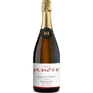 Vin spumant rosu demisec Casa Panciu Spumant Rosu, 0.75L