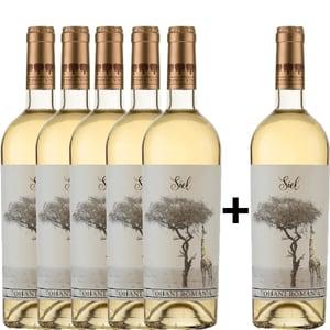 Vin alb sec Tohani Siel Alb, 0.75L, 5+1 sticle