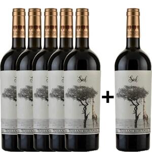 Vin rosu sec Tohani Siel Rosu, 0.75L, 5+1 sticle