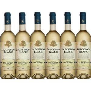Vin alb sec Domeniile Samburesti Sauvignon Blanc, 0.75L, 6 sticle