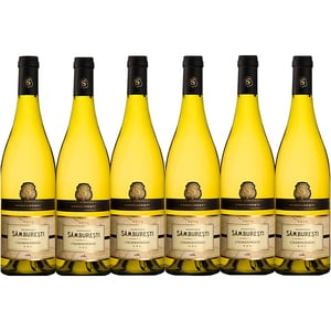 Vin alb sec Domeniile Samburesti Chardonnay, 0.75L, 6 sticle