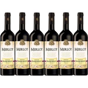 Vin rosu sec Domenile Samburesti Merlot, 0.75L, 6 sticle