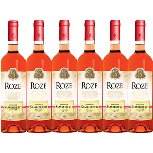 Vin rose sec Domeniile Samburesti Roze, 0.75L, 6 sticle