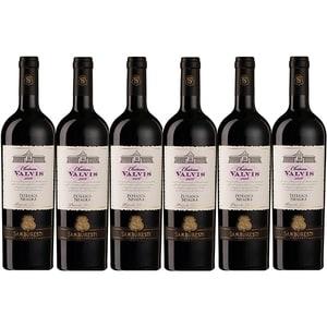 Vin rosu sec Chateau Valvis Feteasca, 0.75L, 6 sticle