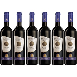 Vin rosu demidulce Samburel de Olt Feteasca Neagra, 0.75L, 6 sticle