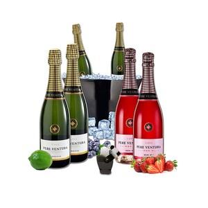 Vin spumant alb si rose Pere Ventura, 0.75L, 4 + 2 sticle + Frapiera + Stopper