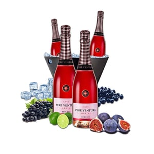 Vin spumant rose Pere Ventura, 0.75L, 4 sticle + Frapiera