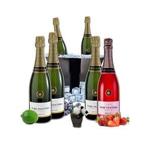 Vin spumant alb si rose Pere Ventura, 0.75L, 5 + 1 sticle + Frapiera + Stoper