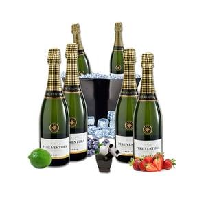 Vin spumant alb Pere Ventura, 0.75L, 6 sticle + Frapiera + Stopper