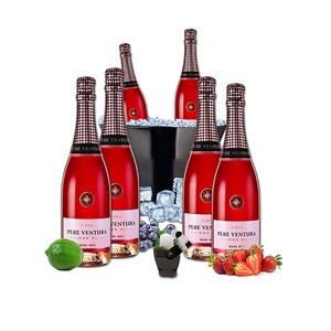 Vin spumant rose Pere Ventura, 0.75L, 6 sticle + Frapiera + Stopper