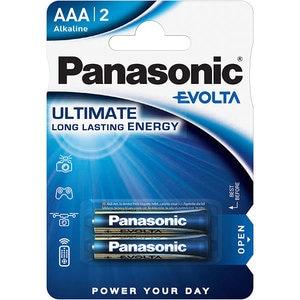 Baterii PANASONIC Evolta Alkaline LR03/AAA, 2 bucati