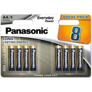 Baterii PANASONIC Everyday Power LR6/AA, 8 bucati