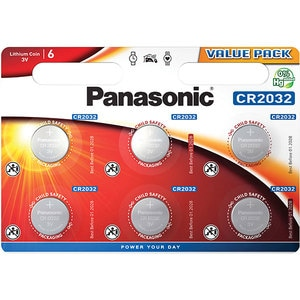 Baterii PANASONIC Lithium Coin CR-2032L, 6 bucati