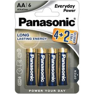 Baterii PANASONIC Everyday Power LR6/AA, 4+2 bucati