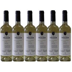 Vin alb sec Vinia Traian, Sauvignon Fume, 0.75L, 6 sticle