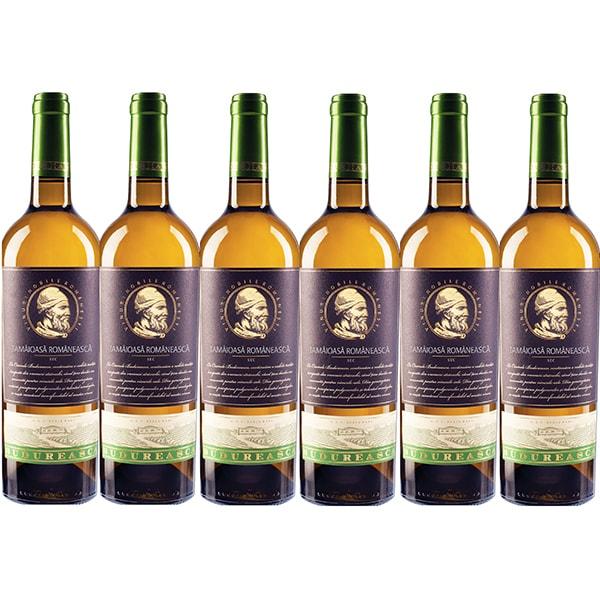 Vin alb sec Budureasca Premium Tamaioasa Romaneasca, 0.75L, 6 sticle