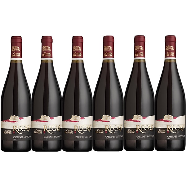Vin rosu sec CRAMELE RECAS Castel Huniade Cabernet Sauvignon, 0.75L, 6 sticle
