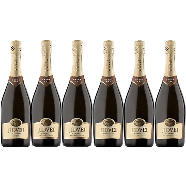 Vin spumant rose sec Jidvei Extra Dry, 0.75L, 6 sticle