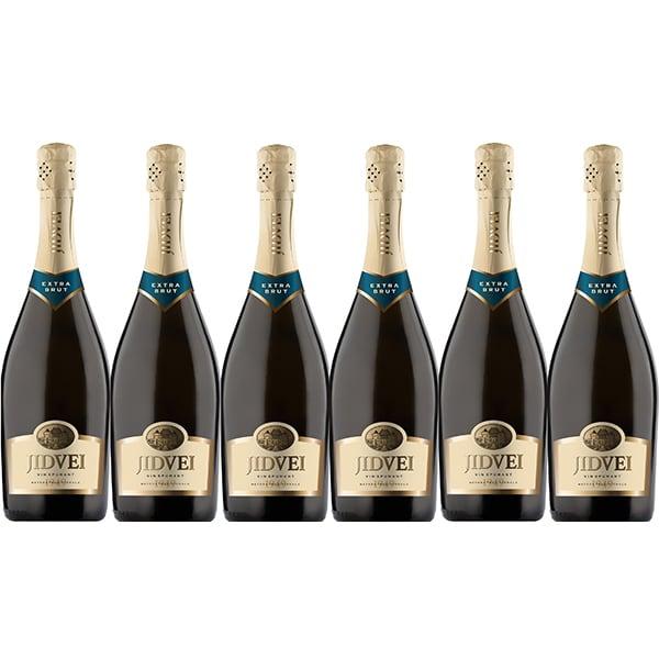 Vin spumant alb sec Jidvei Extra Brut, 0.75L, 6 sticle