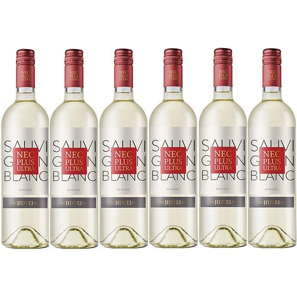 Vin alb demisec Jidvei Nec Plus Ultra Sauvignon Blanc, 0.75L, 6 sticle