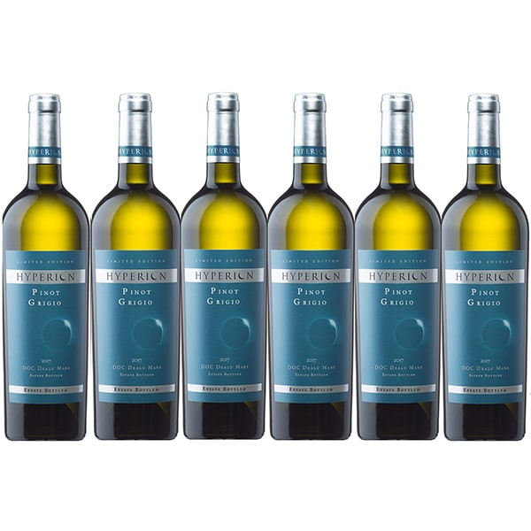 Vin alb sec ICONIC ESTATE Hyperion Pinot Grigio, 0.75L, 6 sticle