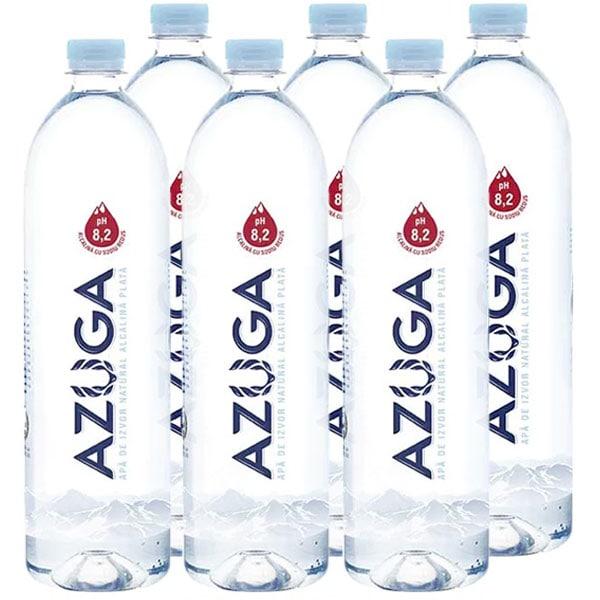 Apa plata alcalina AZUGA bax 1L x 6 sticle