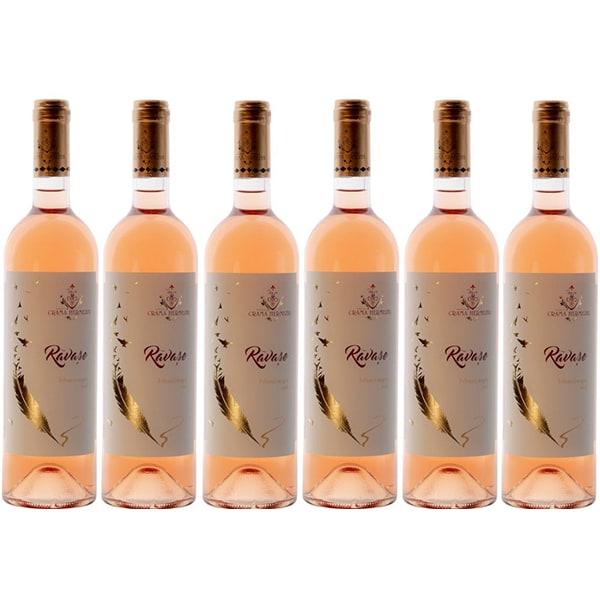 Vin rose demisec Hermeziu Ravase Feteasca Neagra, 0.75L, 6 sticle