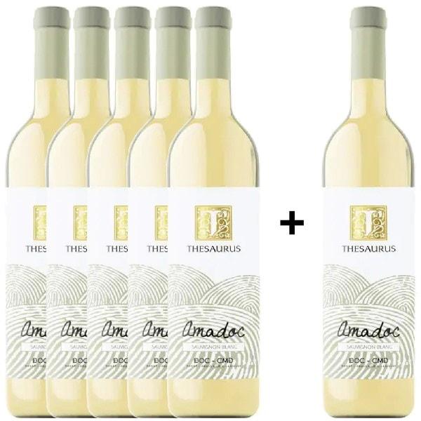 Vin alb sec Thesaurus Amadoc Sauvignon Blanc, 0.75L, 5+1 stIcle