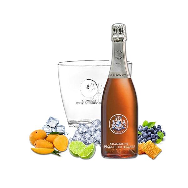 Sampanie rose Barons de Rothschild, 0.75L + Frapiera