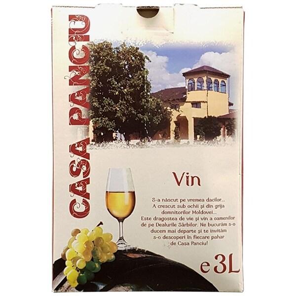 Vin alb demisec Casa Panciu Fet Reg Muscat Ottonel, 3L, Bag in Box