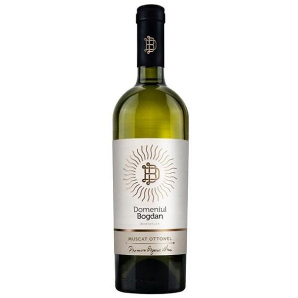 Vin alb sec Domeniul Bogdan Clasic Muscat Ottonel, 0.75L