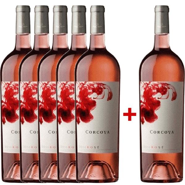 Vin rose sec Corcova Rose Magnum 1.5L, 5+1 sticle