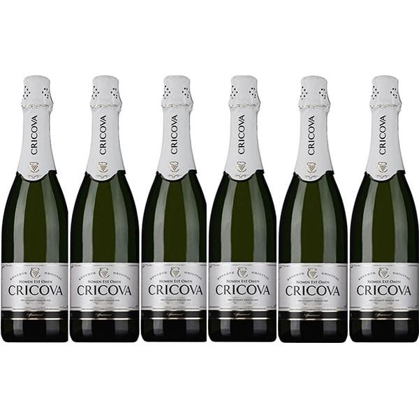 Vin spumant alb Cramele Cricova Traditional, 0.75L, 6 sticle