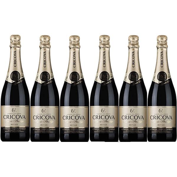 Vin spumant alb Cramele Cricova Cuvee Prestige, 0.75L, 6 sticle