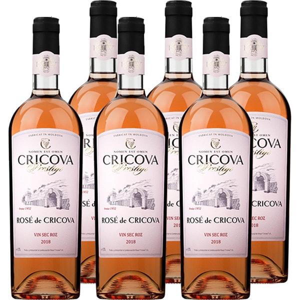 Vin rose sec CRICOVA Prestige Cabernet, 0.75L, 6 sticle