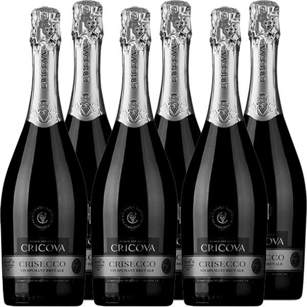 Vin Spumant Alb Sec CRICOVA Brut Crisecco, 0.75L, 6 sticle