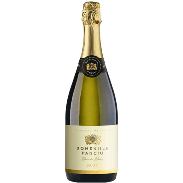 Vin spumant alb sec Domeniile Panciu Spumant Blanc de Blancs, 0.75L