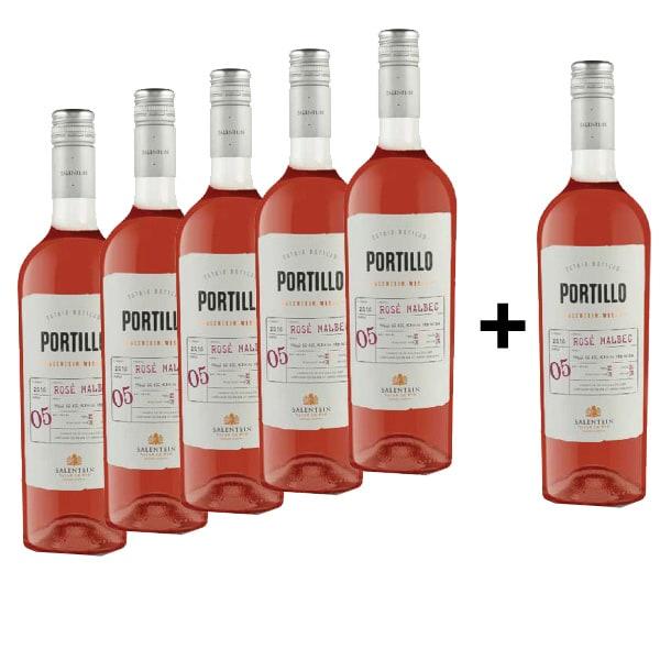 Vin rose sec Portillo Rose Malbec, 0.75L, 5+1 sticle