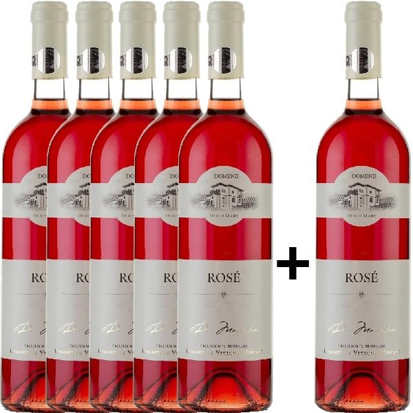 Vin rose demidulce Domeniile Tohani Rose, 0.75L, 5+1 stIcle