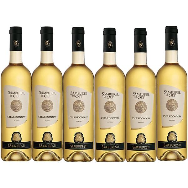 Vin alb demisec Samburel de Olt Chardonnay, 0.75L, 6 sticle
