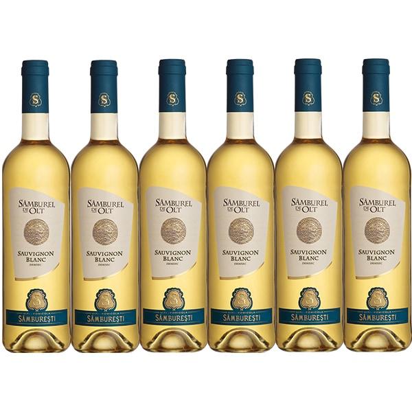 Vin alb demisec Samburel de Olt Sauvignon Blanc, 0.75L, 6 sticle