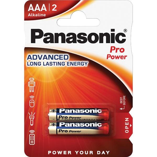 Baterii PANASONIC Pro Power Gold Alkaline LR03/AAA, 2 bucati